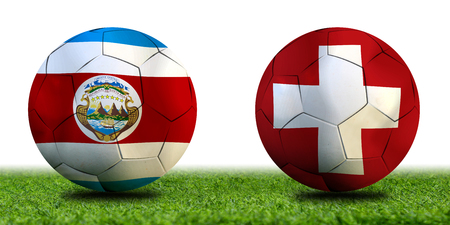 Football Cup competition between the national Costa Rica and national Switzerland. Standard-Bild - 103270055