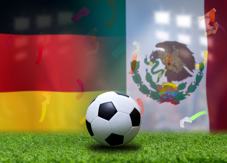 Football Cup competition between the national German and national Mexico. Standard-Bild - 103270058