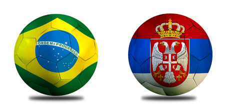 Football Cup competition between the national Brazil and national Serbia. Standard-Bild - 103270102