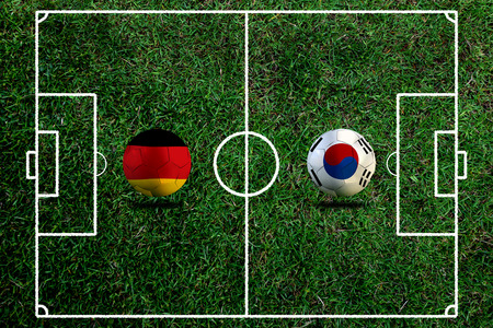 Football Cup competition between the national German and national South Korea. Standard-Bild - 103270108
