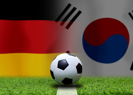 Football Cup competition between the national German and national South Korea. Standard-Bild - 103270112