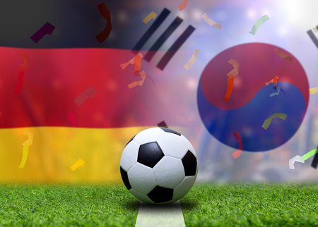 Football Cup competition between the national German and national South Korea. Standard-Bild - 103270115