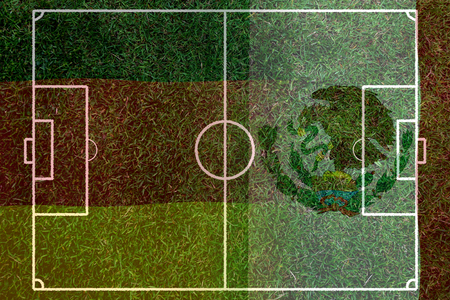 Football Cup competition between the national German and national Mexico. Standard-Bild - 103270160