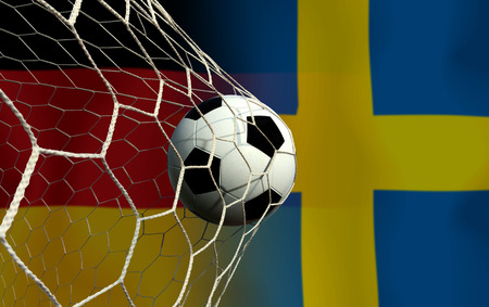 Football Cup competition between the national German and national Sweden. Standard-Bild - 103270165