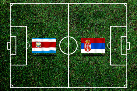 Football Cup competition between the national Costa Rica and national Serbia. Standard-Bild - 103270175