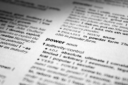 arbitrario: poder-definición en el diccionario Foto de archivo