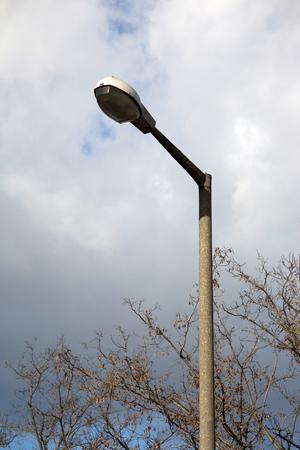 outdoor lighting: old outdoor public lighting pole