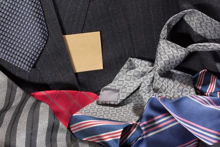 heap: tie heap and jacket Stock Photo