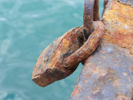 inoperative: rusty padlock