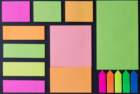 adhesive  note: multicolored blank adhesive note papers