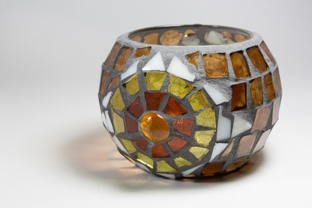 candle holder: mosaic glass candle holder