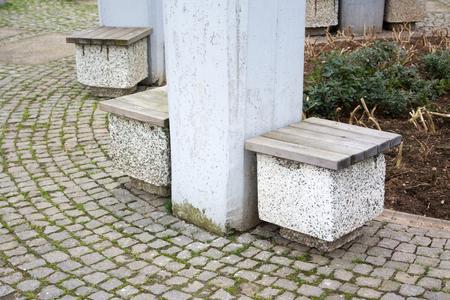 banc de parc: Simple banc de parc Banque d'images