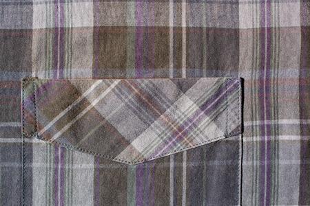 plaid shirt: plaid shirt pocket
