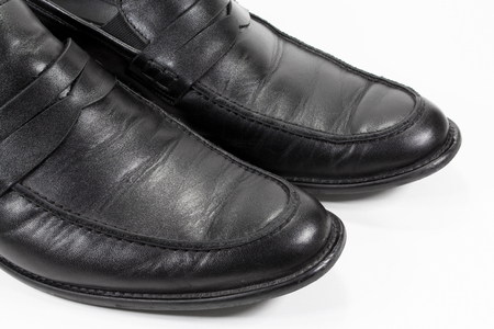 loafers: old black loafers shoes