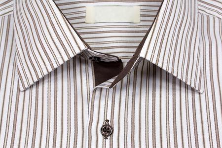 open collar: Striped shirt Stock Photo