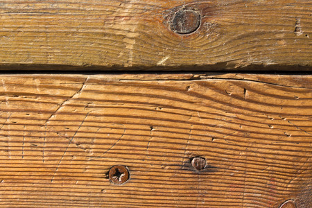 dint: nail and screw in the wood