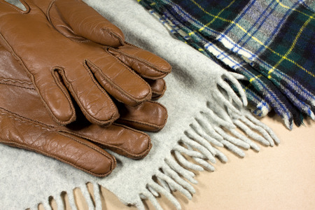 foulards: gloves and scarves Archivio Fotografico