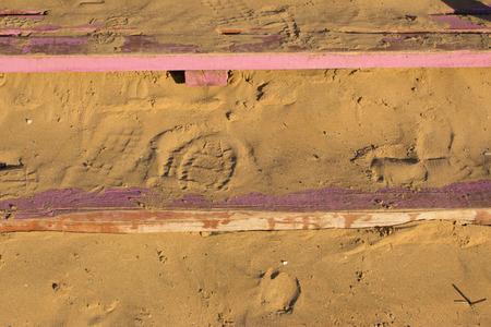 lavender coloured: shoeprints on wooden steps