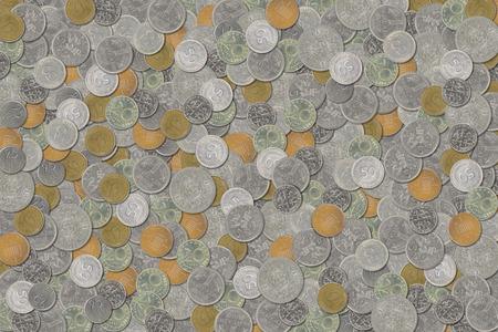 monedas antiguas: pilas de monedas antiguas