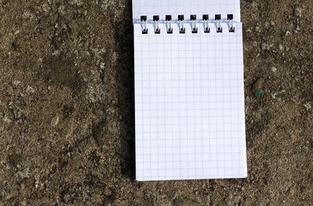 open notebook: open notebook Stock Photo