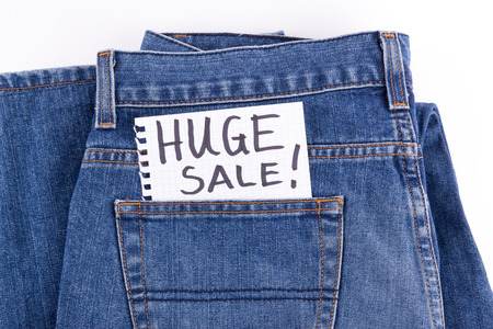 huge: huge sale Stock Photo
