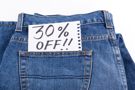 thirty percent off: thirty percent off