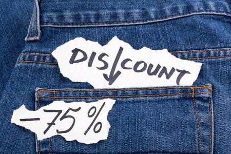 trade off: discount seventy-five percent