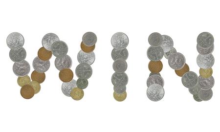 monete antiche: Vinci con le vecchie monete Archivio Fotografico