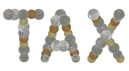 deutschemarks: TAXI word with old coins