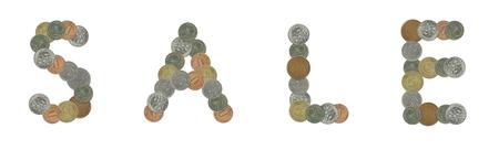 monete antiche: SALEM con le vecchie monete Archivio Fotografico
