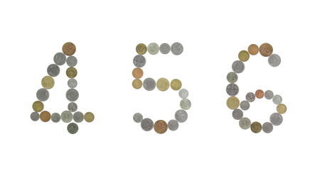 monete antiche: Numbers with old coins
