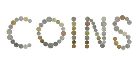 monete antiche: Monete parola con le vecchie monete