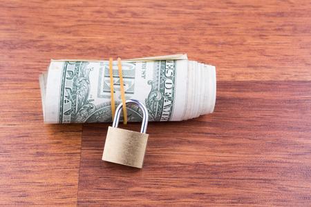 money roll: money roll and padlock
