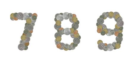 monete antiche: Numeri con vecchie monete