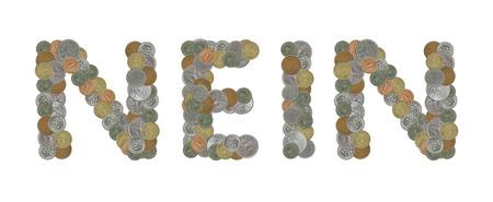 monedas antiguas: la palabra de NEI con monedas antiguas Foto de archivo