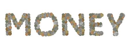 monete antiche: Parola di denaro con le vecchie monete