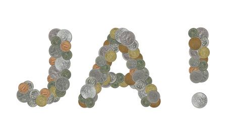 monete antiche: J parola con le vecchie monete