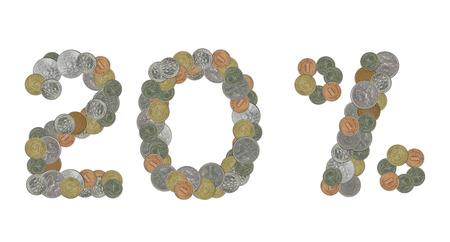 monete antiche: venti per cento con le vecchie monete