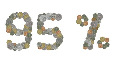 monedas antiguas: 95 por ciento con las monedas viejas