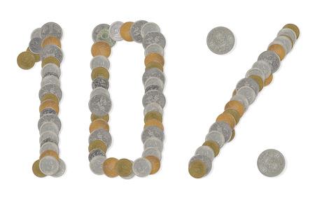 monete antiche: vecchie monete a 10 per cento