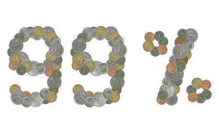 monedas antiguas: 99 por ciento con las monedas viejas