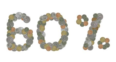 monete antiche: Il 60 per cento con le vecchie monete Archivio Fotografico