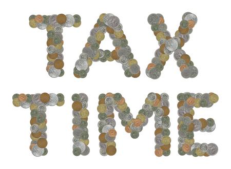 monete antiche: Tempo di imposta con le vecchie monete