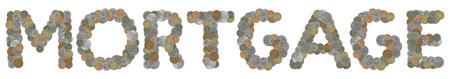 monedas antiguas: palabra hipoteca con monedas antiguas