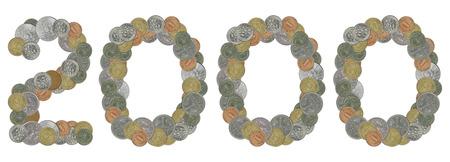 monete antiche: numero 2000 con le vecchie monete