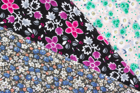 flowered: flowered fabric