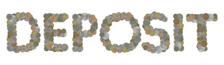 monete antiche: DEPOSITO con le vecchie monete Archivio Fotografico