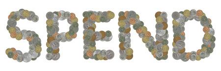 monete antiche: SPENDERE parola con monete antiche