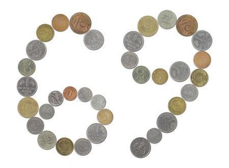 monedas antiguas: n�mero 69 con monedas antiguas