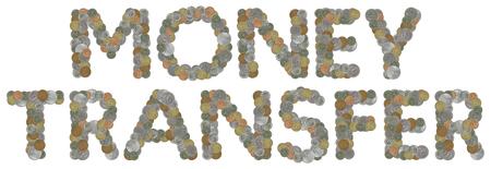 monedas antiguas: TRANSFERENCIA dinero con las monedas viejas Foto de archivo